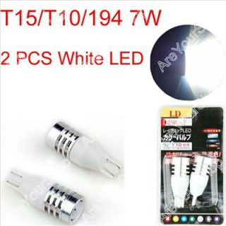 White Car LED T15/T10/194 7W Cree Q5 Single Filament Light Bulb