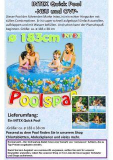 Intex Kinder Pool Ø 183 x 38 cm Planschbecken Quickpool Snapset