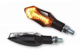 LED Blinker Hatch schwarz f. Harley Custom Streetfighter super Preis