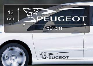 Logo Aufkleber Auto Embleme Sticker Accessoires 107 207 208 308