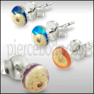 Body Jewelry 100Pairs Silver Resine Shell Earrings $NR