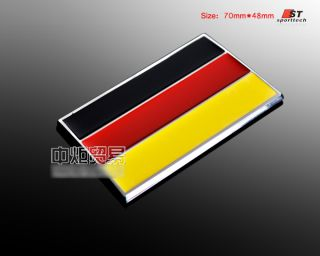 D196 Deutsche Flagge Chrom 3D Emblem Auto aufkleber Car Sticker TOP
