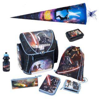 Star Wars Schulranzen Set 8tlg. mit Schultüte 85cm + Federmappe