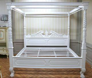 bett 180 x 200 cm himmelbett ehebett doppelbett natur antik stil 1 80. Black Bedroom Furniture Sets. Home Design Ideas
