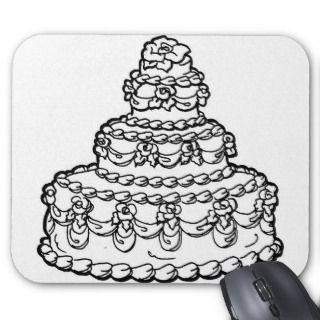 Wedding Cake Drawing Mouse Mat