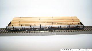Fleischmann Rungenwagen mit Holzladung EUROP KE GE JB 80 393 8 214 8