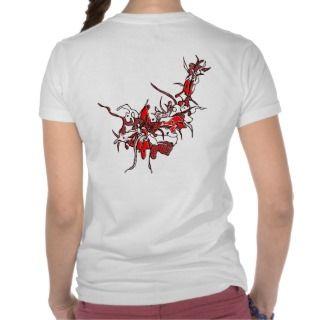 Die Red 40 Flower Tribal Tattoo t shirt