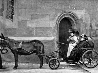 Queen Victoria Driving Donkey Carriage Photographic Print