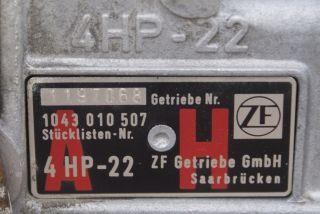BMW E30 Automatic Automatik ZF GETRIEBE 4HP 22