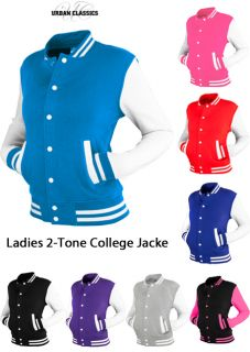 URBAN CLASSICS LADIES 2 TONE COLLEGE JACKE