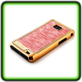 SAMSUNG GALAXY i9100 S2 LUXUS CHROM Case Huelle Cover Gold Tasche