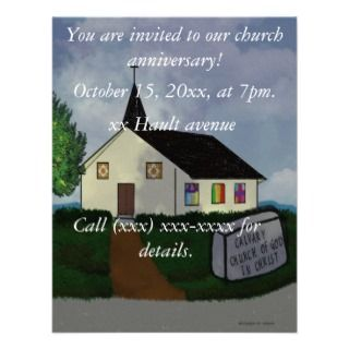 Church Anniversary Invitations, 219 Church Anniversary Announcements