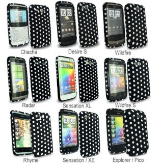 Stylish Polka Dots Series Soft Silicone Rubber Gel Mobile Phone Case