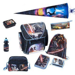 Star Wars Schulranzen Set 9tlg. mit Sporttasche, Schultüte 85cm