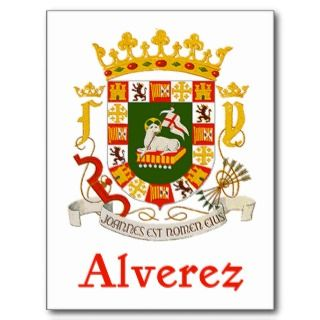 Alverez Shield of Puerto Rico Postcards