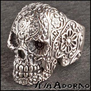 Ring Daumenring Totenkopf Skull Biker 925 Silber Ring SR1