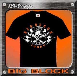 Shirt V8 Mopar US Car Big Block Junky Fun Shirt TOP