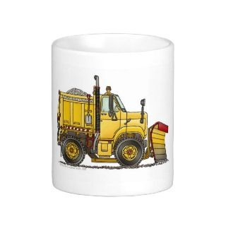 Snow Plow Truck Mugs