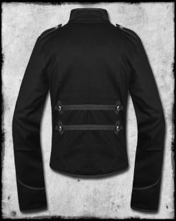 EMO BLACK MY CHEMICAL ROMANCE MILITARY PARADE JACKET