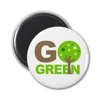 Go Green Recycle Tree Refrigerator Magnets