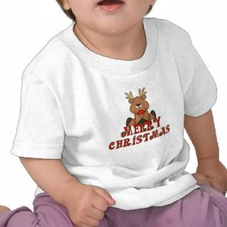 KRW Kids Reindeer Merry Christmas Shirt