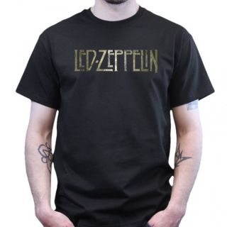 Led Zeppelin Logo   T Shirt   Schwarz
