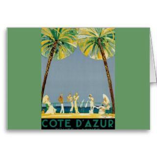 Cote D Azur Posters   Vintage Greeting Cards