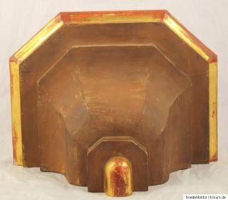 Alte Wandkonsole Konsole Holzschrein Heiligenschrein Eiche Rot Gold