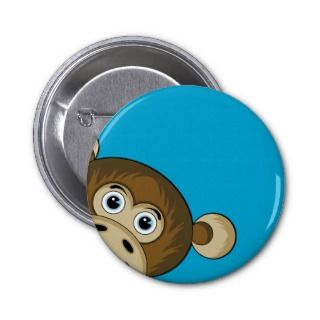 Cheeky Monkey Button Badge