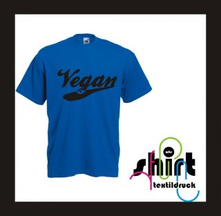 TD 223 T Shirt Vegan Vegetarier Damen   Herren Shirt