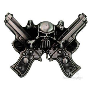 Pistolen Totenkopf Skull Rock Gürtelschnalle *226