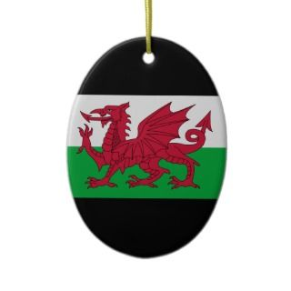 Welsh   Nadolig Llawen / Happy Christmas Christmas Tree Ornament