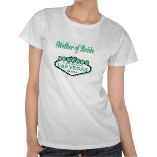 Las Vega Moher of Bride Spring Green Baby Doll  ee Shirs