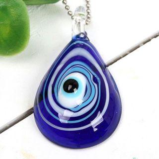 Blau Auge Lampwork Glas Perle Anhänger Pendant Schmuck