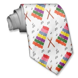 Xylophone Multicolored Musical Instrument Tie