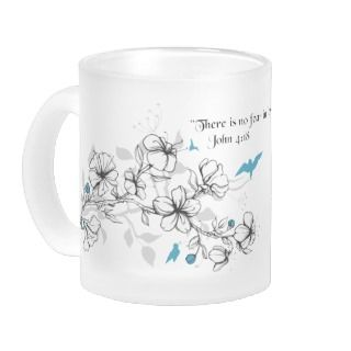 Cherry Blossom Inspirational Bible Verse Mug