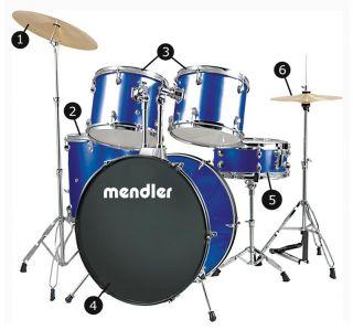 Schlagzeug5 tlg.Snare drumHi HatBeckenTrommel