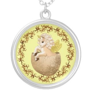 Newborn Baby Unicorn Personalized Necklace