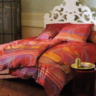 bassetti Bettwäsche Istanbul Mako Satin   Farbe rot   V1, 80x80 cm
