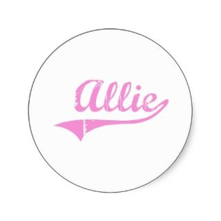 Allie Classic Style Name Round Sticker