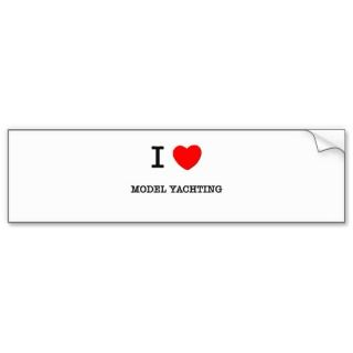 LOVE MODEL YACHTING BUMPER STICKER