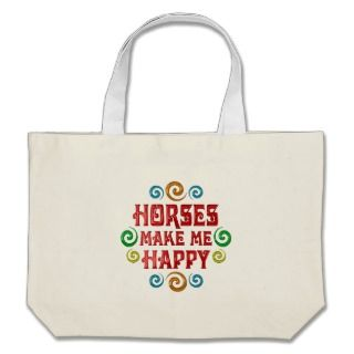 Horse Happiness Tote Bag