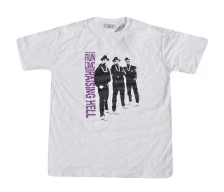 RUN DMC Raising Hell Edition medium white T shirt, Tee, Tee Shirt