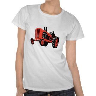 vintage farm tractor retro style tee shirt
