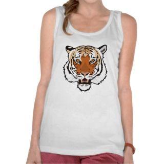 Tiger head tank tops