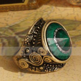 Ring Stein Gravur Retro Style Ringe Damen Fingerring NEU 102 0142