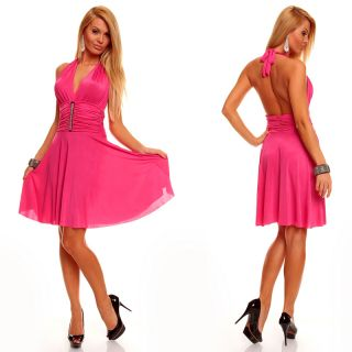 Neckholder Minikleid Salsa Latina Partykleid Sommerkleid Discokleid