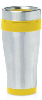 YELLOW Insulated 16oz Travel Mug STAINLESS STEEL coffee