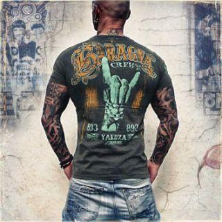 Yakuza Herren T Shirt TSB 108 black ink moon schwarz Men NEUE
