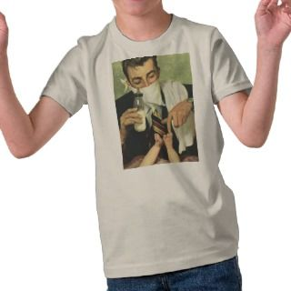 Vintage Fathers Day with Dad Changing Diapers T shirt